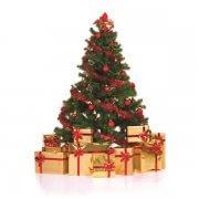 karácsonyfa ajándékokkal - illusztráció a bejegyzéshez