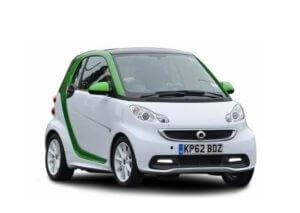 elektromos hajtású Smart kép - illusztráció - autós futarszolgalat tartalomhoz